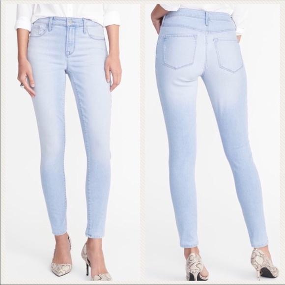 95ec114cf43 Old Navy Jeans | Salehighrise Lightwash Rockstar Super Skinny | Poshmark